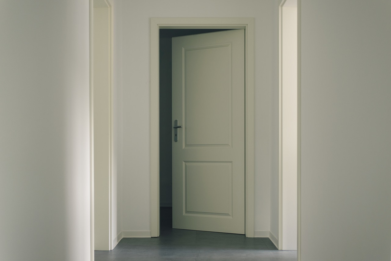 door, contemporary, within