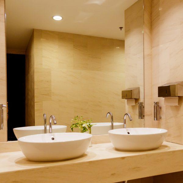Stylish double bathroom